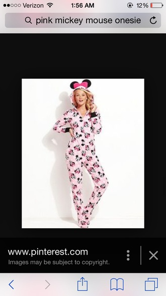 pajamas onesie minnie and mickey disney