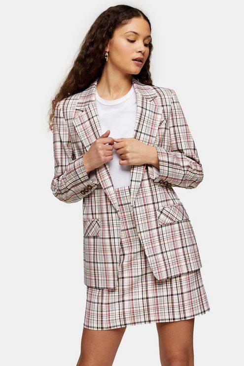 Check Suit Blazer - Multi