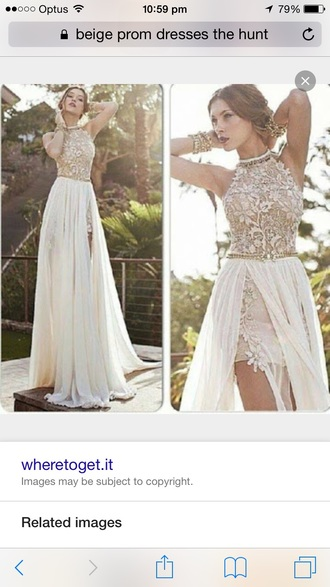dress prom beige good accessories