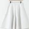 White high waist pleated pu leather skirt - sheinside.com