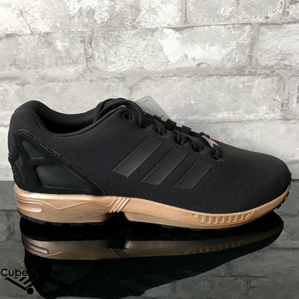 Adidas ZX Flux W Black Copper Metallic Rose Gold S78977 Size