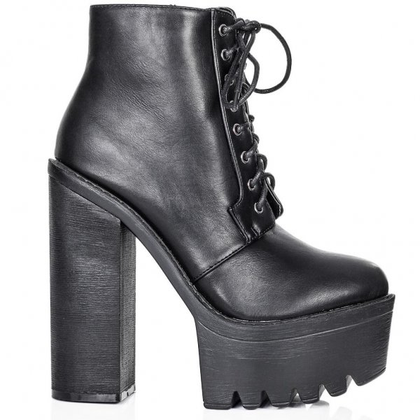 Holly black ankle boots shoes