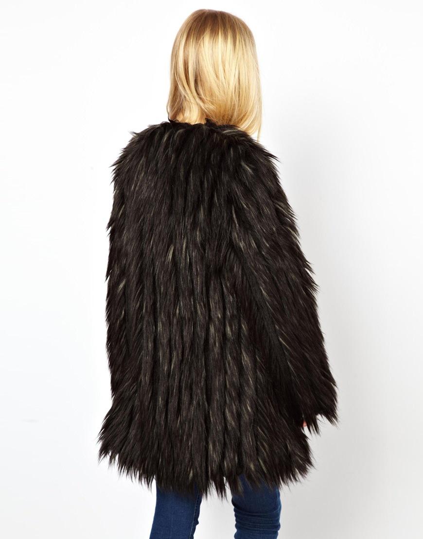 Urbancode faux fur coat at asos.com