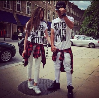 drake t-shirt couple white fashion couple sweaters instagram matching couples jeans black