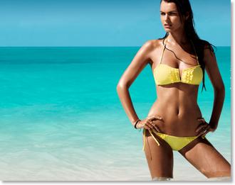 bikini yellow swimwear