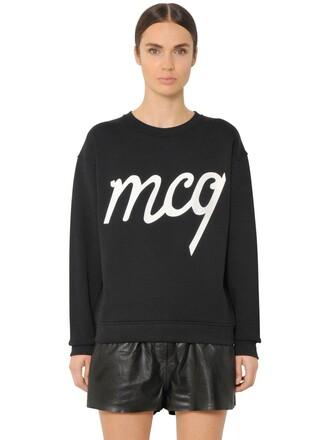sweatshirt glitter cotton black sweater