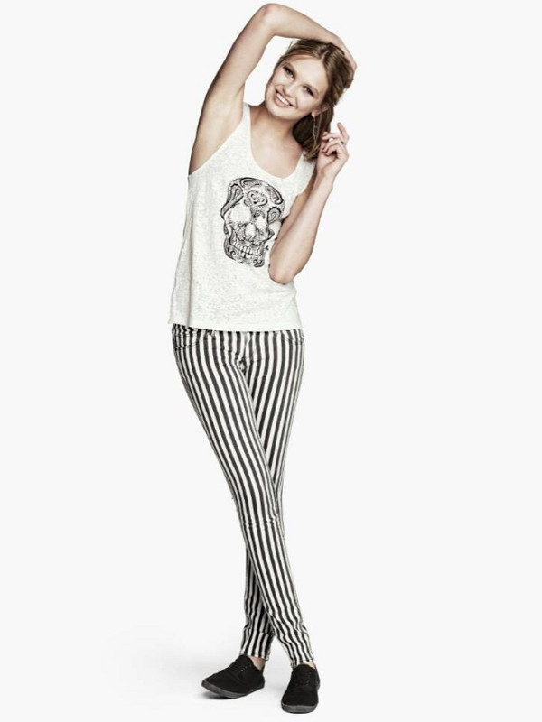 Striped Skinny Pant : KissChic.com