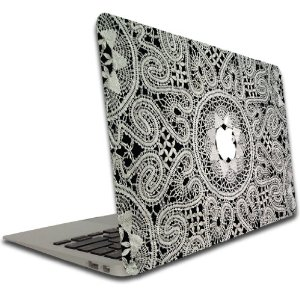 Amazon.com: Macbook Air or Macbook Pro (13 inch) Vinyl, Removable Skin - Lace: Computers & Accessories