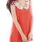 Semi sheer crochet peter pan collar summer watermelon red tank top s for woman