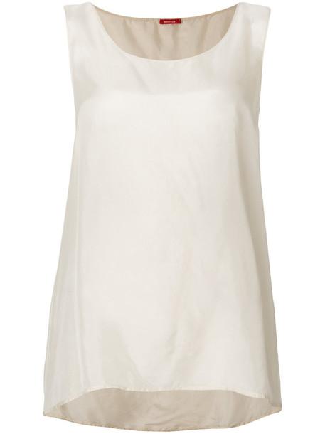 Apuntob - loose fit tank top - women - Silk - S, White, Silk