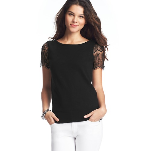 Loft Lace Sleeve Sweater