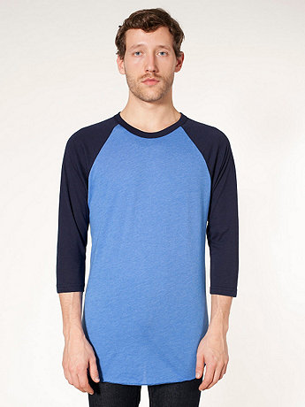 Poly-Cotton 3/4 Sleeve Raglan Shirt | American Apparel