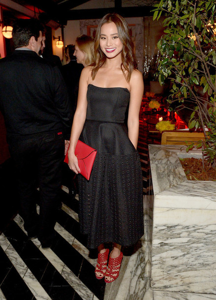 jamie chung sandals black dress
