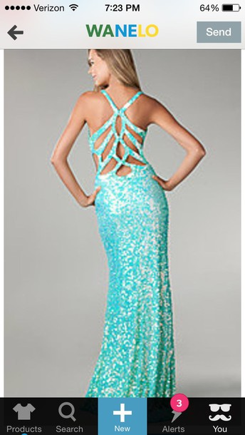 aqua prom dress sequin dress
