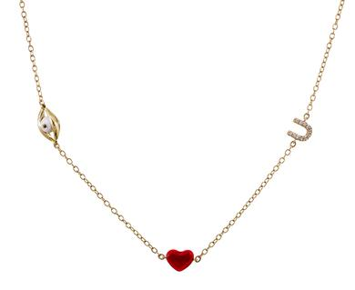 Alison Lou | Eye Heart U Station Necklace in  Designers Alison Lou Necklaces at TWISTonline