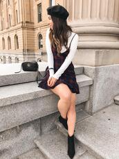 adventures in fashion,blogger,dress,shoes,bag,jewels,ankle boots,gucci bag,beret