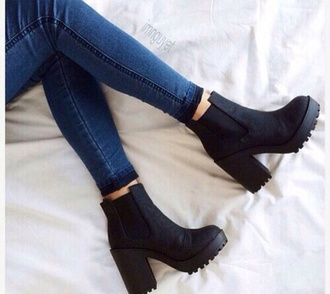 shoes boots heels boots black
