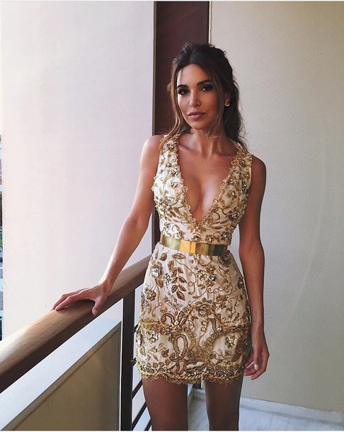 dress gold glitter glitter dress black leder negin mirsalehi celebrity style