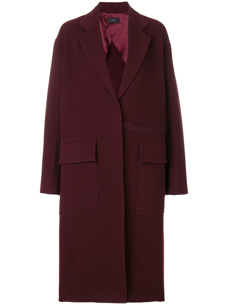 Joseph coat women wool red
