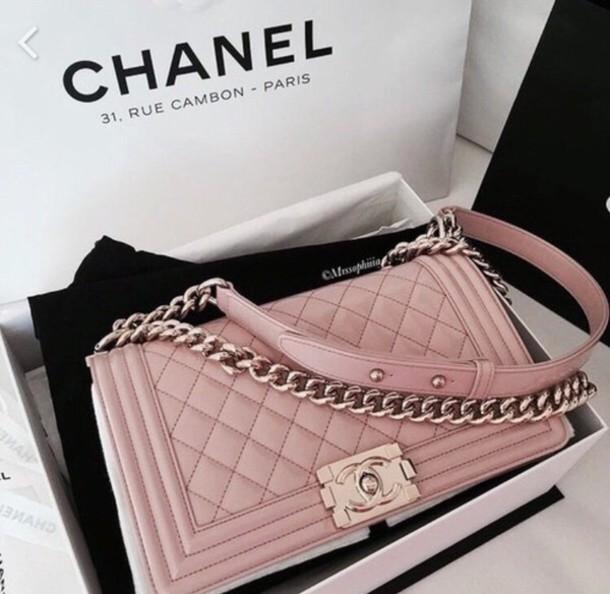 39715858cf83 bag chanel chanel bag pink purse linked chains paris fashion week 2016 handbag  pink bag
