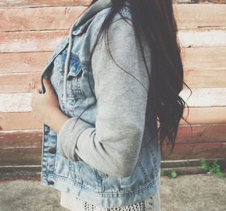 jacket grey blue cute bad atumn fall spring love girly badass comfy denim jeanjacket comfortable
