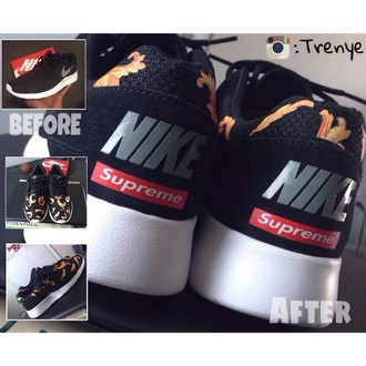 shoes supreme nike running shoes nike air roshe runs kicks nyc dope