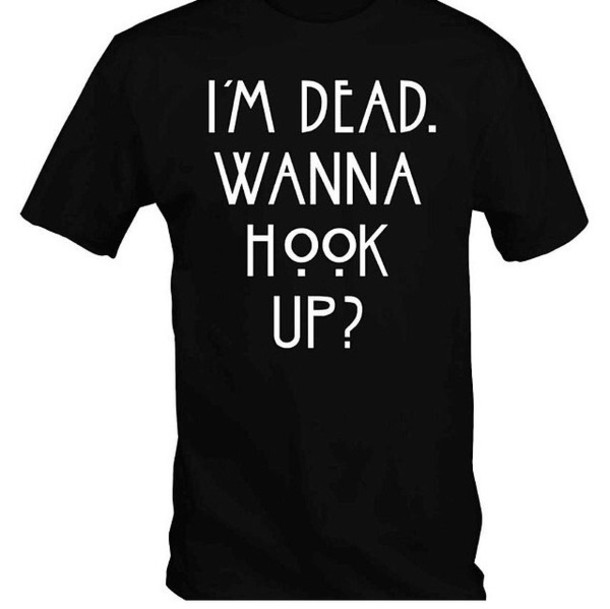t-shirt oversized t-shirt funny quote shirt american horror story dead black funny t-shirt funny shirt