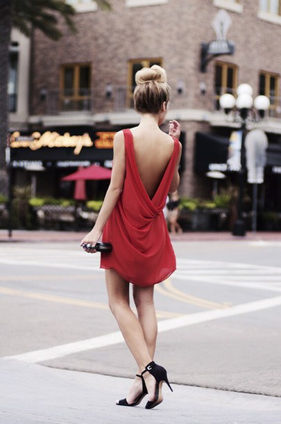 dress dress red dress cut-out dress style
