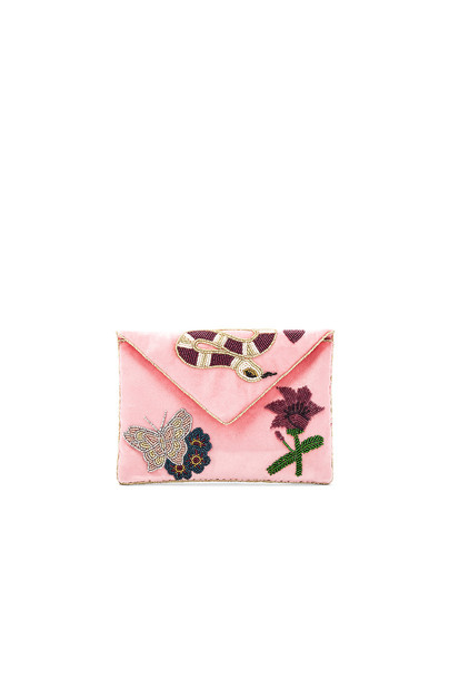 From St Xavier clutch pink bag