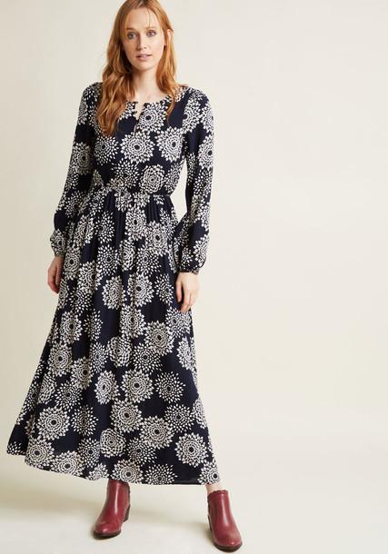 Modcloth dress maxi dress maxi long blue