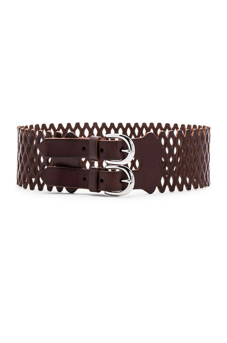 vintage mesh belt waist belt brown