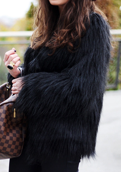 Faux Fur Coat - Lookbook Store