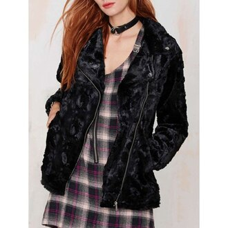 jacket rose wholesale velvet grunge alternative choker necklace streetwear plaid lookbook casual