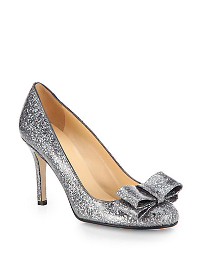 Kate Spade New York - Krysta Glitter Bow Pumps - Saks.com