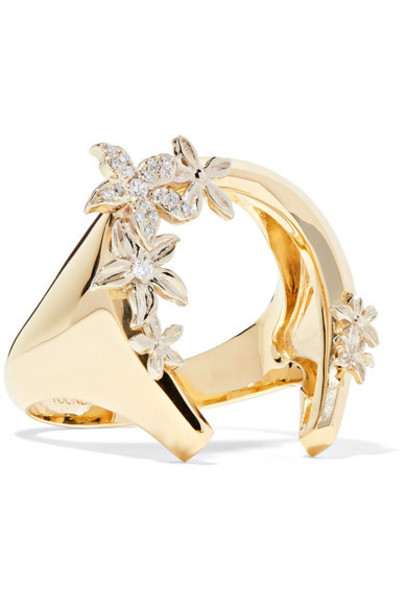 Foundrae diamond ring rose ring gold jewels
