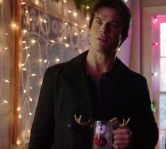 home accessory damon deermug deer reindeer mug mug damon salvatore the vampire diaries reindeer glass