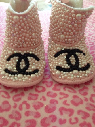 shoes chanel inspired boots baby shoes