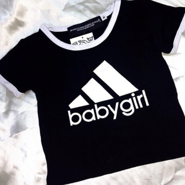 white adidas shirt for girls
