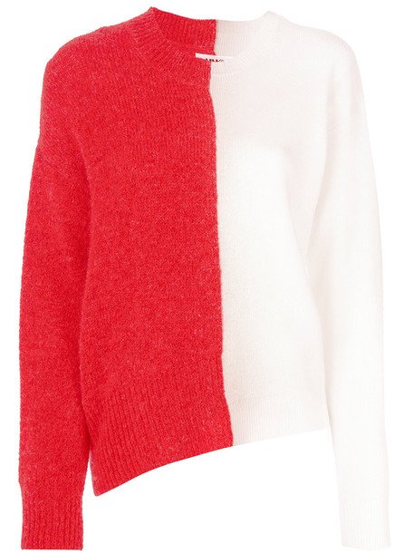 Mm6 Maison Margiela jumper women spandex mohair wool red sweater