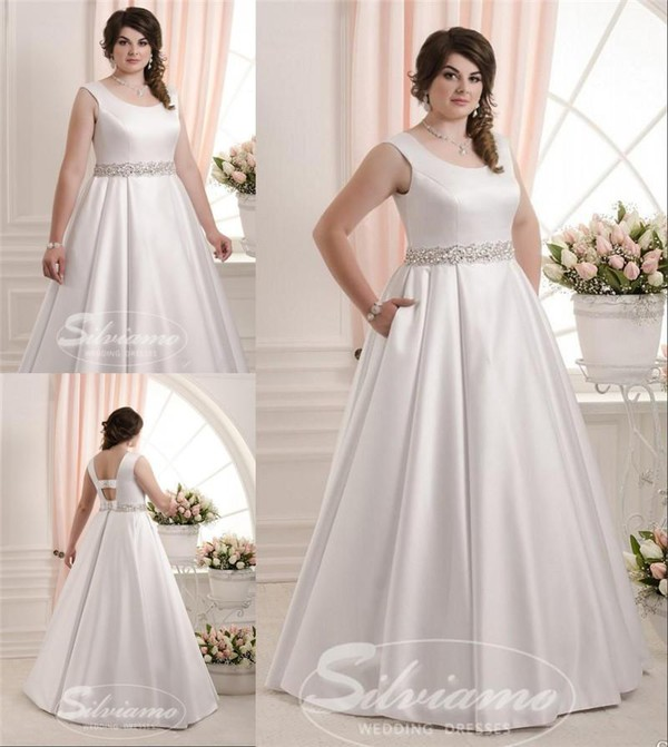 Wedding Gown With Pockets: Dress: Plus Size Wedding Dresses, 395 Imported Satin