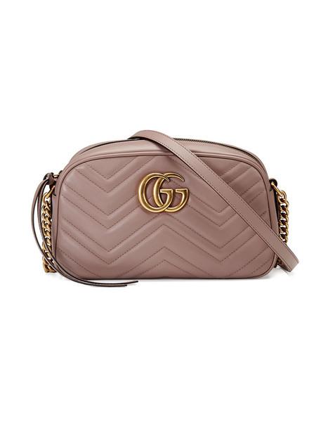 gucci women bag shoulder bag leather purple pink