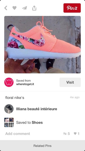shoes floral sports shoes nike nike running shoes coral