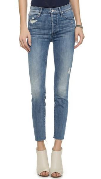 Mother Stunner Ankle Fray Jeans - Graffiti Girl