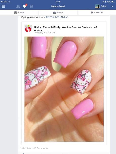 nail polish baby nail pink nail print nail