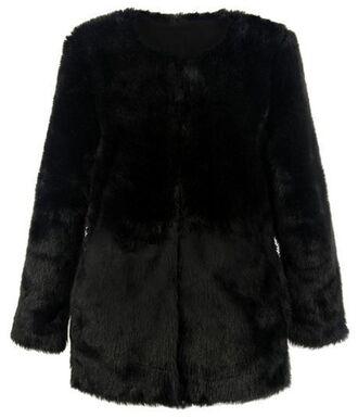 faux fur coat black coat black faux fur coat www.ustrendy.com