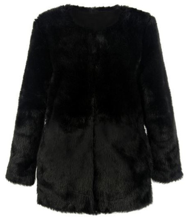 black coat faux fur coat black faux fur coat www.ustrendy.com