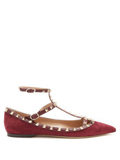 flats,suede,burgundy,shoes