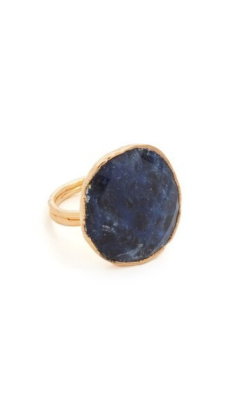 ring gold navy jewels