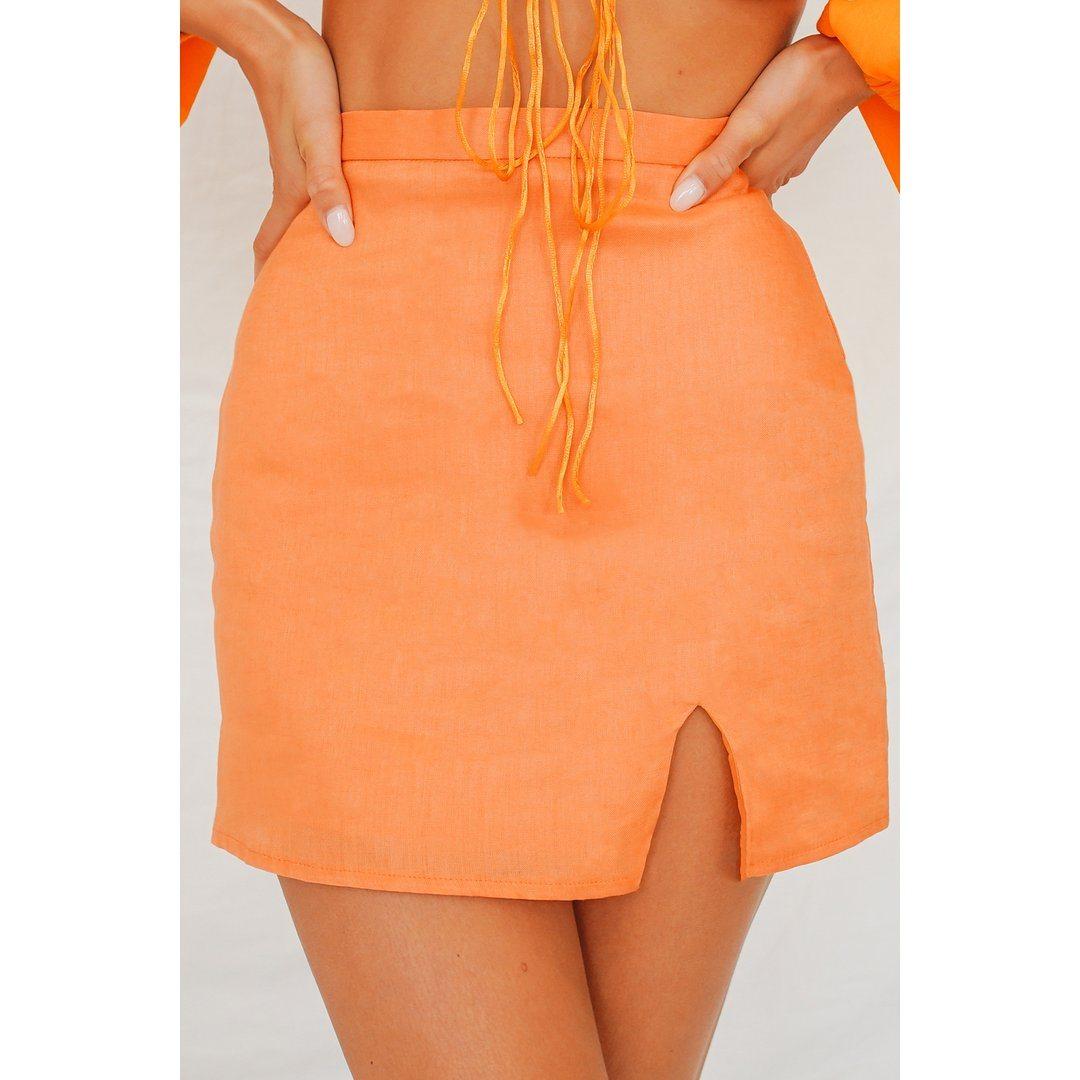VG Fair Game Mini Skirt // Tangerine
