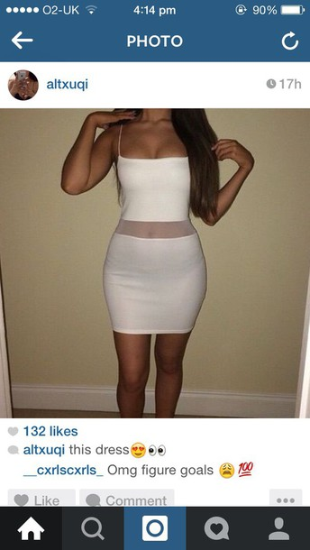 dress white dress mixed race party casual see through see through see through dress mesh dress